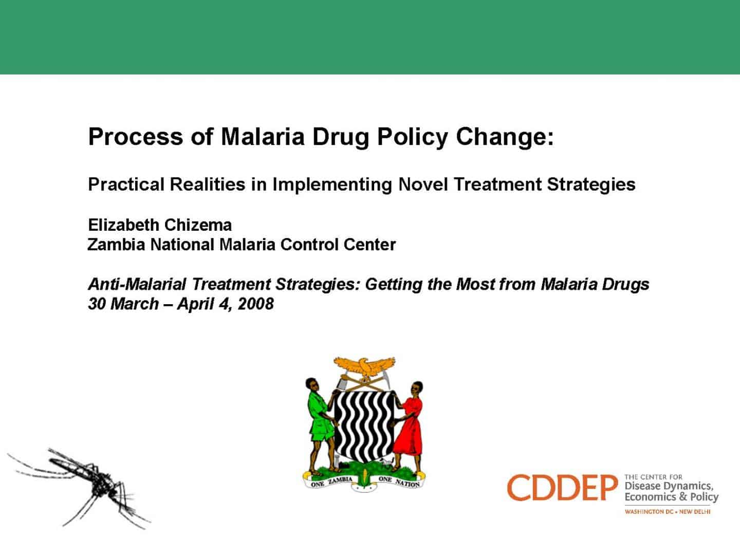 Process of Malaria Drug Policy Change: Practical Realities in Implementing Novel Treatment Strategies