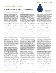 Antibacterial R&D incentives