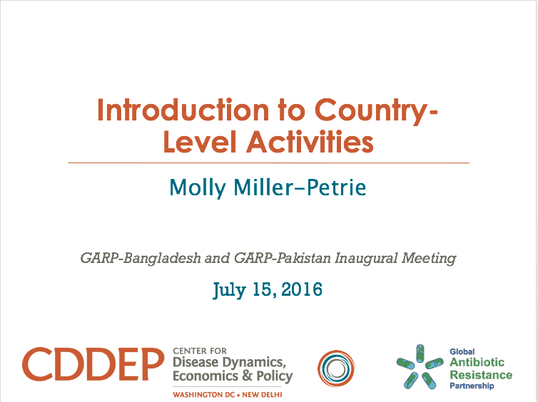 Introduction to Country-Level Activities
