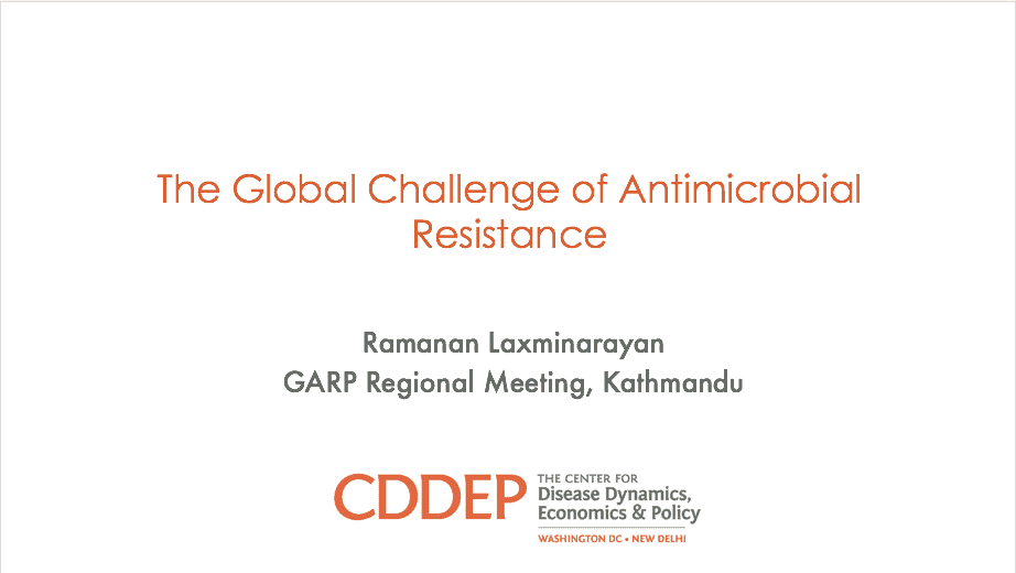 The Global Challenge of Antimicrobial Resistance