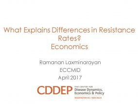 What Explains Differences in Resistance Rates? Economics - ECCMID 2017