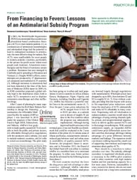 From Financing to Fevers: Lessons of an Antimalarial Subsidy Program