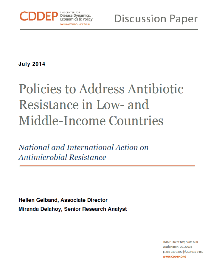 Policies to Address Antibiotic Resistance in Low- and Middle-Income Countries