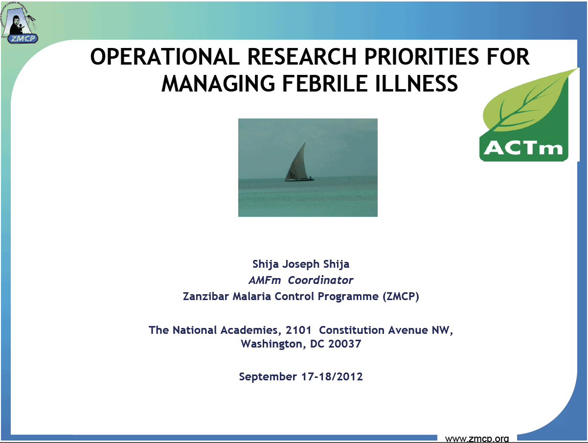 Operational Research Priorities For Managing Febrile Illnesses