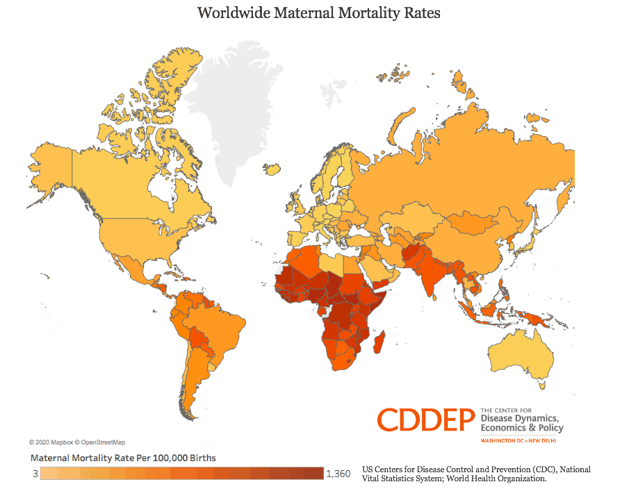 Worldwide Maternal Mortality Rates