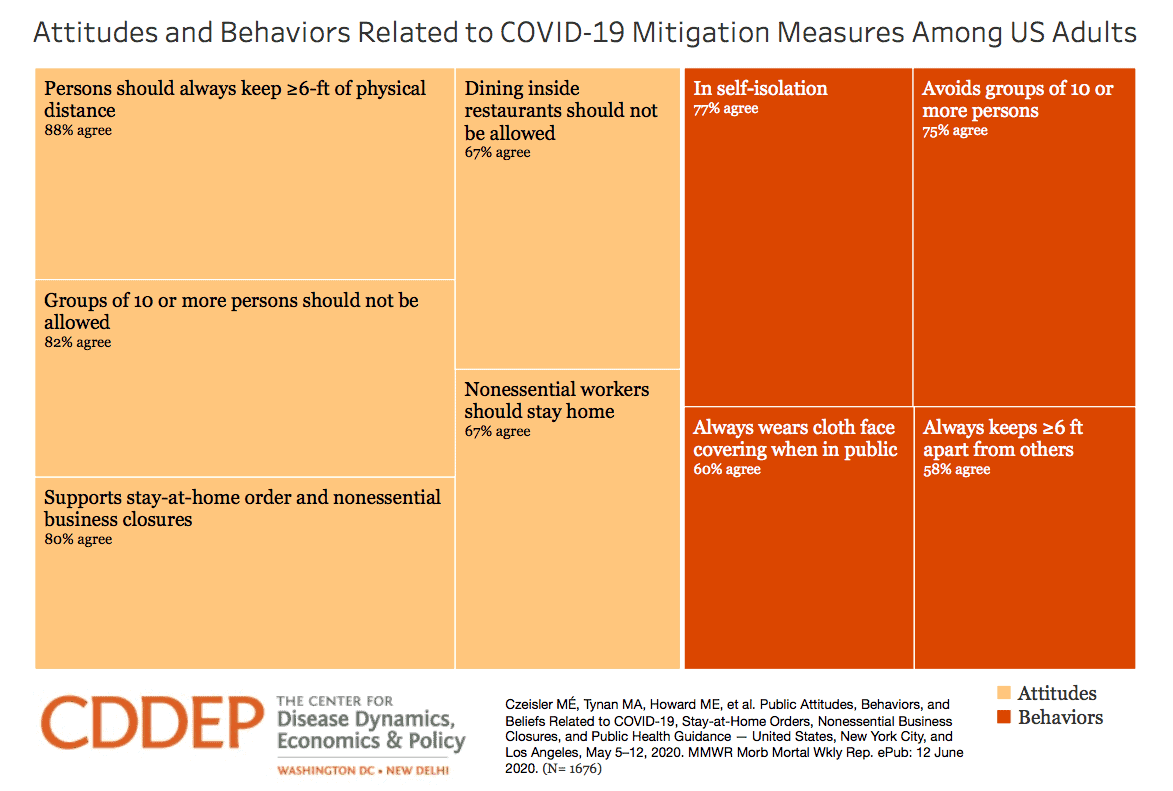 Attitudes and Behaviors Related to COVID-19 Mitigation Measures Among US Adults